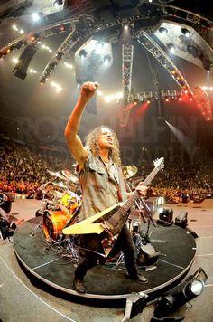"From the ""Happy Birthday Kirk Hammett!"" album on Facebook by Ross Halfin Photography"