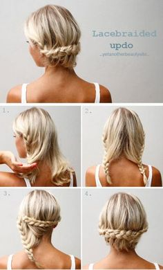 Updos For Medium Hair - Lace-Braided Updo