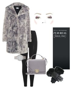 """""""faux coat•KarlLagerfeld"""" by goodvibesonlycalifornia ❤ liked on Polyvore featuring adidas Originals, Karl Lagerfeld, Smythson and Larsson & Jennings"""