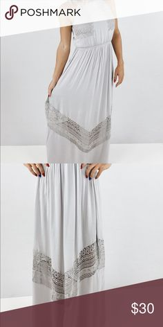 Sweet dreams Maxi New with tags. Perfect condition. Silver lilac. Perfect to wear in the fall under a sweater doe and rae Dresses Maxi