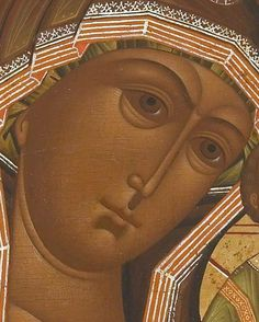 Detailed view: T205. Virgin of Kazan- exhibited at the Temple Gallery, specialists in Russian icons