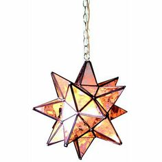 """Hanging Lighted Antique Star - 15"""""""