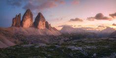 Mountain sunset sunset beauty, the magic of nature