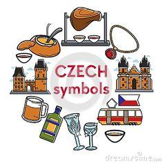 Czech Republic Famous Landmarks Vector Symbols Stock Vector - Illustration of knuckle, icon: 114751859 Czech Republic Flag, Famous Landmarks, Symbols, Illustration, Art, Viajes, Art Background, Famous Monuments, Kunst