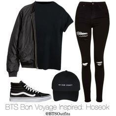 BTS Bon Voyage Inspired: Hoseok by btsoutfits on Polyvore featuring Topshop and…