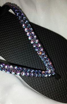 Swarovski Rhinestone Crystal Bridal Flip Flops by IslandToes www.etsy.com/shop/IslandToes