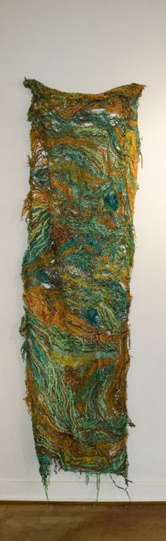 Patina Copper Fiber Art Wall Hanging by GloriaKirk on Etsy, $1800.00