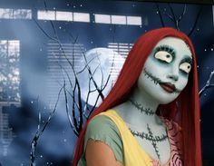 Sally (Nightmare Before Christmas) Make-up Tutorial...not technically a sugar skull, but an outstanding look and tutorial