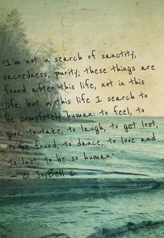 There is no 'perfect' here... just be beautifully human, beautifully you!