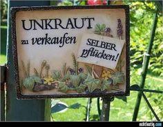 UNKRAUT zu verkaufen - Selber Pflücken