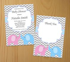 Neutral Baby Shower Invitation Elephant Baby Shower by diymyparty