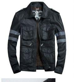 RE6 faux leather jacket