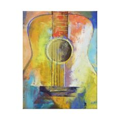 guitar melodies painting canvas