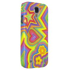 "Samsung Galaxy S4 Barely There Phone Case ""Happy""  $26.35  by Whimsical_Me_Designs  - custom gift idea"