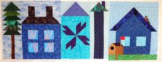 Moda's block of the week Be My Neighbor, blocks 1, 2, & 3.