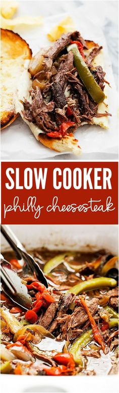 The flavor of this beef is absolutely incredible! It is cooked in the slow cooker to tender and juicy perfection and perfect topped with melty cheese!