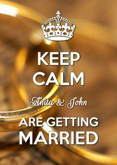Keep Calm Getting Married - Trouwkaarten - Kaartje2go