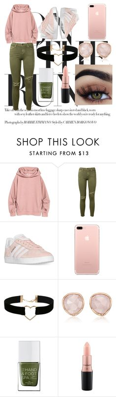"""""""Untitled #68"""" by ajlahamzi ❤ liked on Polyvore featuring Current/Elliott, adidas, Miss Selfridge, Monica Vinader, The Hand & Foot Spa and MAC Cosmetics"""