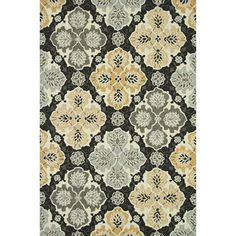 Hand-hooked Charlotte Charcoal/ Multi Rug (3'6 x 5'6) - Overstock™ Shopping - Great Deals on Alexander Home 3x5 - 4x6 Rugs