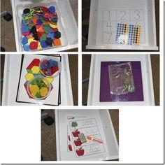 Teeny Tot Tuesday: Workbox Ideas - Confessions of a Homeschooler Preschool Kindergarten, Preschool Learning, Toddler Preschool, Early Learning, Fun Learning, Learning Activities, Preschool Activities, Preschool Education, Preschool Curriculum