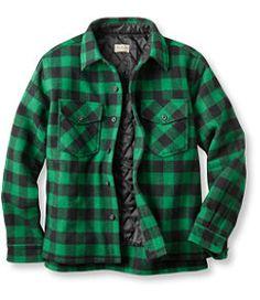 #LLBean: Maine Guide Shirt with PrimaLoft (Green, Regular, Medium)