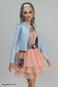 New outfit for Kingdom Doll / Deva Doll Fashion Dolls, Fashion Dresses, Sewing Barbie Clothes, Beautiful Barbie Dolls, Barbie Fashionista, Barbie Dress, Vintage Barbie, New Outfits, Trending Outfits