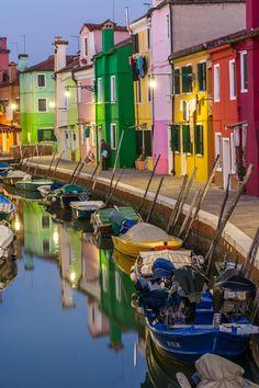 Burano evenings, Veneto, Italy