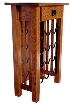 Amish Mission Wine Rack Stand Like wine, this furniture just gets better with age. Store wine in style with a custom made wine rack stand. Built in Amish country. #winerack