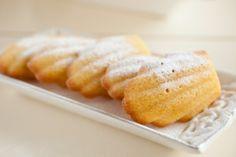 Recipe for elderflower madeleines.