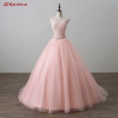 Pink Ball Gown Princess Quinceanera Dresses Beaded Prom Formal Sweet 16 Dresses for sale online Pink Formal Dresses, Gold Prom Dresses, Elegant Prom Dresses, Quince Dresses, Long Prom Gowns, Sweet 16 Dresses, Ball Gowns Prom, Ball Dresses, Pretty Dresses