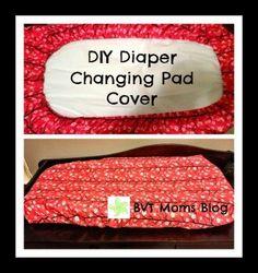 DIY Diaper Changing Pad Cover - BurlingtonVT Moms BlogBurlingtonVT Moms Blog Diy Baby Gifts, Baby Shower Gifts, Sewing For Kids, Baby Sewing, Diy Sewing Projects, Knitting Projects, Craft Projects, Goodbye Baby, Diy Diapers