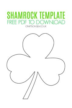Dowload our PDF free Shamrock template that's perfect for kids crafts and activities this St Patricks Day plus easy ideas on how to use it! Rainbow Playdough, Shamrock Template, Cloud Template, St Patricks Day Crafts For Kids, Tree Templates, Fun Projects For Kids, Irish Culture, Rainbow Crafts, Activity Sheets