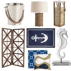 Nautical. Beach house inspiration for next year :)
