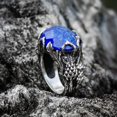 A personal favourite from my Etsy shop https://www.etsy.com/listing/557467397/sterling-silver-lapis-lazuli-ring