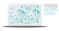 Blue Leaves Free Desktop Wallpaper Download for your Computer Kaleidoscope Blog