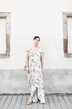 Robe longue Tie & Dye, espadrilles - pauline fashionblog
