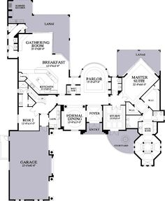 Grand Florida Manor - 24009BG | 1st Floor Master Suite, CAD Available, Den-Office-Library-Study, Florida, Luxury, Mediterranean, PDF, Photo Gallery, Premium Collection, Split Bedrooms | Architectural Designs
