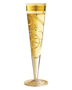 Ritzenhoff 'Winter' Champagne Flute--neat for New Year's Eve!
