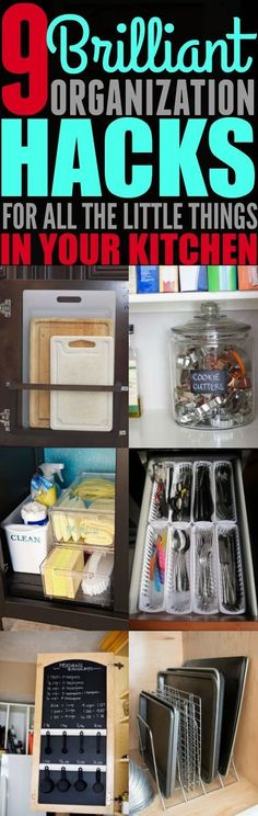 Every since I started using these 9 organization hacks for the small things in my kitchen, I haven't had a problem with finding all of my cooking utensils. I'm so happy I found these tips. Definitely pinning!