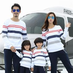 Cotton Long Sleeve Sweatshirts Family Matching Clothes $36.54 Family Picture Outfits, Matching Family Outfits, Mom And Baby Outfits, Kids Outfits, Matching Sweaters, Matching Clothes, Kids Fashion, Fashion Outfits, Style Fashion