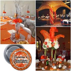 Orange You Glad it's your Quinceanera | Sweet Fifteen Theme