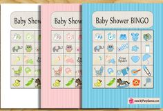 Free Printable Baby Shower Picture Bingo Game Cards