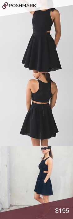 Lululemon Away Dress Like new, worn once. Size 6. Tags removed. Black. Listing only because it has gotten a little big for me, but will only sell for the right price. Pics upon request.    • no trades • offers welcome • bundles! •                    • email on my about • • all lulu purchases ship in a small lulu bag • lululemon athletica Dresses Mini