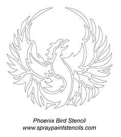phoenix tattoo back Bird Stencil, Phoenix Bird, Tattoo Stencils, Back Tattoo, Rococo, Mosaic Glass, Mosaics, Tattoo Ideas, Desktop