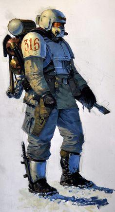 Sci-fi soldier painting by Karl Kopinski Warhammer Imperial Guard, 40k Imperial Guard, Warhammer 40k Art, Warhammer Fantasy, Arte Cyberpunk, Sci Fi Armor, Future Soldier, Sci Fi Characters, Science Fiction Art