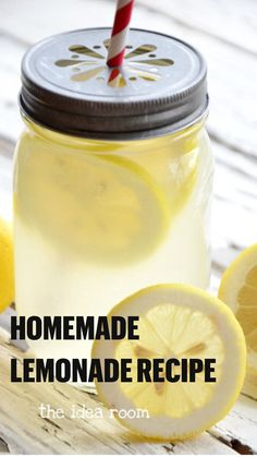 Homemade Lemonade Recipes, Lemon Recipes, Summer Recipes, Fresh Homemade Lemonade Recipe, Homeade Lemonade, Lemonade Recipe For Party, Sweet Lemonade Recipe, Classic Lemonade Recipe, How To Make Lemonade