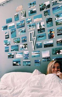 Wohnheim Raumdekoration Ideen 00036 Schlafsaal architecture and room decor Dorm Room Decor Ideas architecture decor Ideen Raumdekoration room Schlafsaal Wohnheim Cute Room Ideas, Cute Room Decor, Beach Room Decor, Teen Wall Decor, Teenage Room Decor, Bedroom Themes, Bedroom Inspo, Bedroom Ideas, Bedroom Decor
