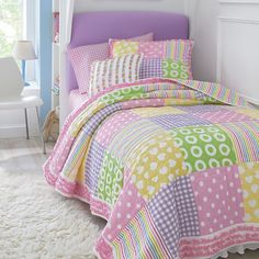 I need! Super cute quilt for girls bed.