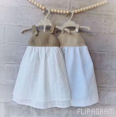 Knitting For Kids, Crochet For Kids, Baby Knitting, Knit Crochet, Baby Girl Fashion, Kids Fashion, Baby Fabric, Girls Dresses, Summer Dresses