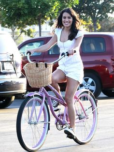 Lea Michele on 2wheelbike Maui Beach Cruiser